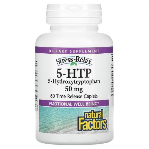 Natural Factors, 5-HTP, 50 mg, 60 Enteric Покрытые Капсулы