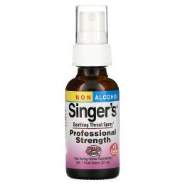 Herbs Etc., Singer's, успокаивающий спрей для горла, без спирта, 29,5 мл