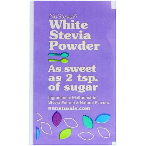 NuNaturals, NuStevia, White Stevia Powder, 1000 Packets, .035 oz (1 g) Each