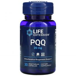 Life Extension, PQQ Caps, 20 мг, 30 вегетарианских капсул