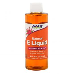Now Foods, Жидкий витамин E, 4 жидкие унции (118 мл)