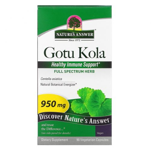 Nature's Answer, Центелла, 950 мг, 90 капсул на растительной основе
