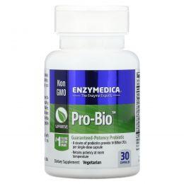 Enzymedica, Pro Bio, пробиотик гарантированного действия, 30 капсул
