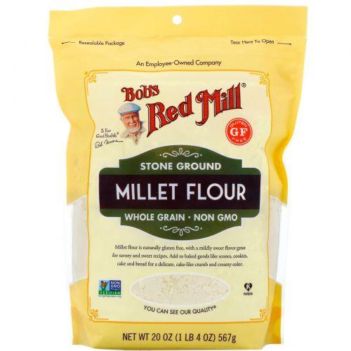 Bob's Red Mill, Просяная мука, цельнозерновая, 567г (20унций)