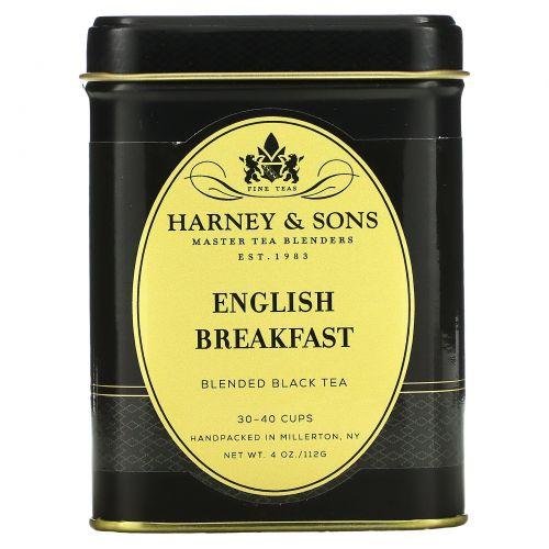 """Harney & Sons, Смесь черного чая """"Английский завтрак"""", 4 унции (112 г)"""