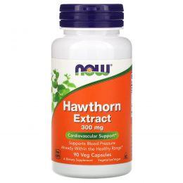Now Foods, Экстракт боярышника, 300 мг, 90 вегетарианских капсул