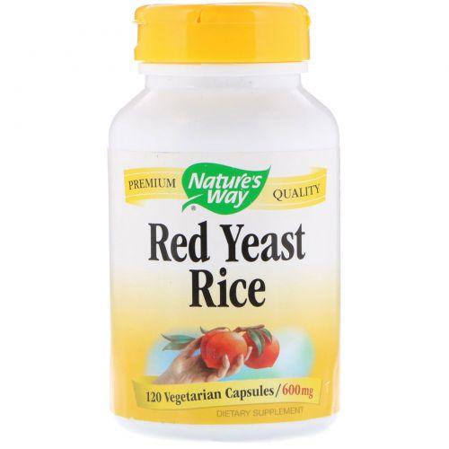 Nature's Way, Красный ферментированный рис, 600 мг, 120 вегетарианских капсул