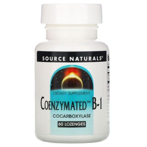 Source Naturals, Коэнзимированный витамин  B-1, 60 таблеток
