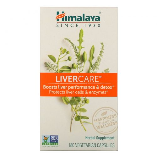 Himalaya, Liver Care, 180 вегетарианских капсул