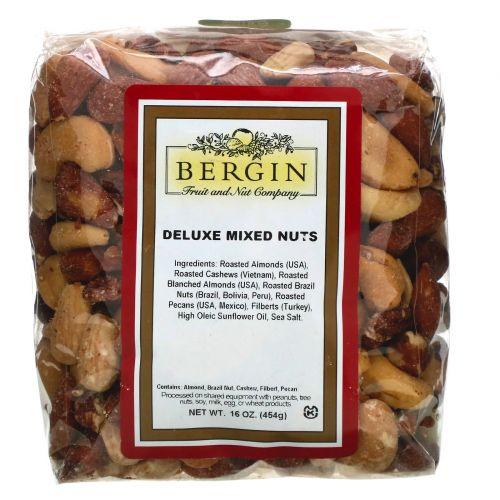 Bergin Fruit and Nut Company, Смесь орехов класса люкс, 16 унций (454 г)