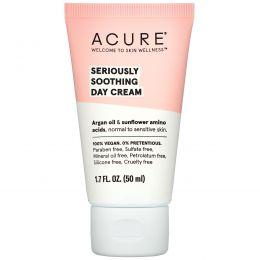Acure Organics, Крем для чувствительной кожи лица, аргановое масло + аминокислоты подсолнечника, без отдушек, 1,75 жидкой унции (50 мл)