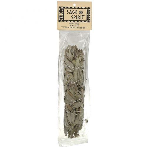 Sage Spirit, White Sage Wand, Native American Incense, 1 Wand