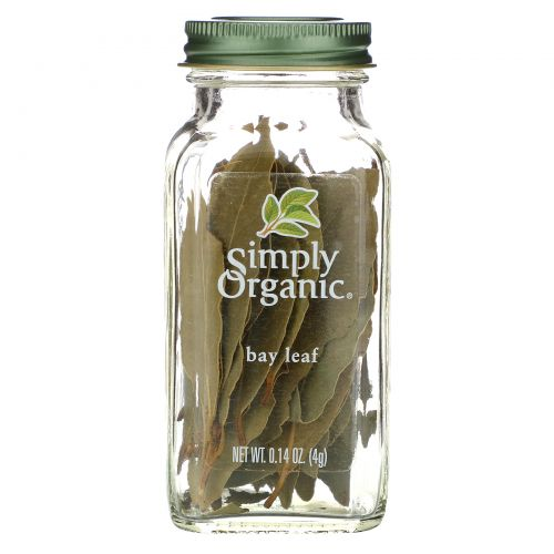 Simply Organic, Лавровый лист 0.14 унции (4 г)