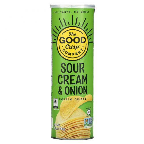 The Good Crisp Company, Potato Crisps, Sour Cream & Onion, 5.6 oz (160 g)
