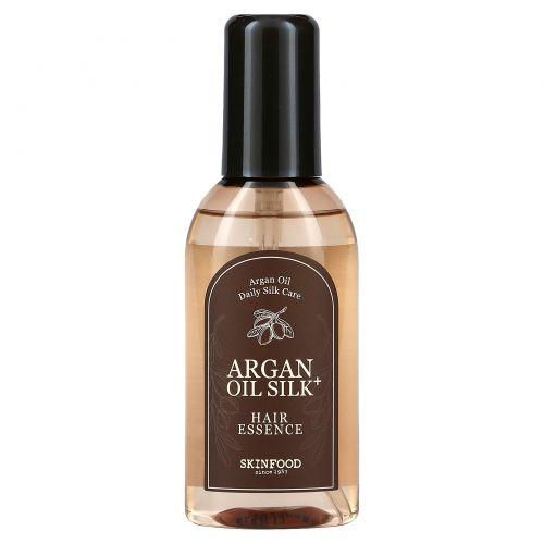 Skinfood, Фиксирующая эссенция для волос с аргановым маслом Argan Oil Silk Plus, 3,38 ж. унц. (100 мл)