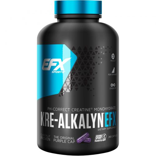 EFX Sports, Kre-Alkalyn EFX, 240 капсул