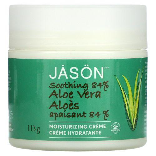 Jason Natural, Aloe Vera 84% Moisturizing Creme, Soothing, 4 oz (113 g)