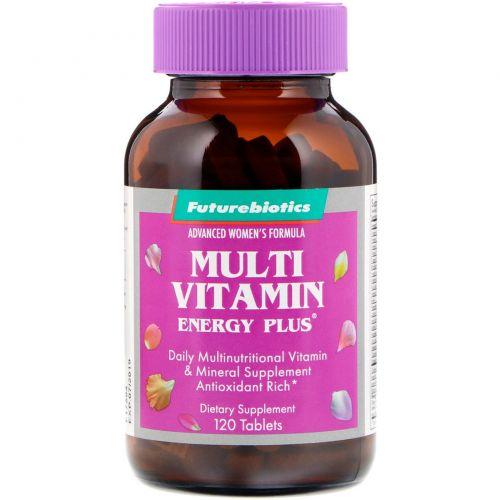 """FutureBiotics, Передовые мультивитамины для женщин """"Энергия Плюс"""", 120 таблеток"""