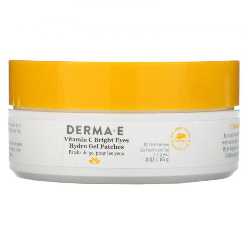 Derma E, Vitamin C Bright Eyes Hydro Gel Patches, 60 Patches, 3 oz (85 g)