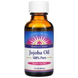 Heritage Products, 100% чистое масло жожоба, 1 жидкая унция (30 мл)
