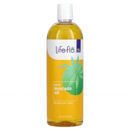 Life Flo Health, Чистое масло авокадо для ухода за кожей, 473 мл