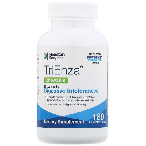 Houston Enzymes, TriEnza Chewable with DPP IV Activity, 180 Chewable Tablets