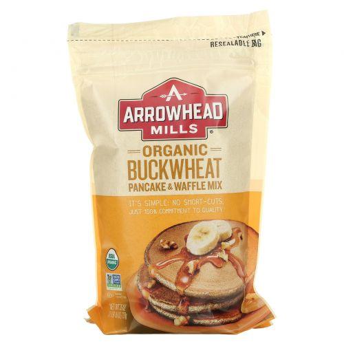 Arrowhead Mills, Органическая гречневая смесь для выпекания блинов и вафлей 26 унции (737 г)
