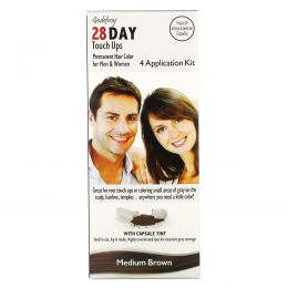 Godefroy, 28 Day Touch Ups, Medium Brown,  4 Application Kit