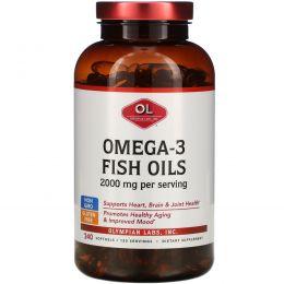 Olympian Labs Inc., Омега-3 рыбий жир 2000 мг, 240 мягких капсул