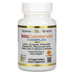 California Gold Nutrition, AstaCarotenoid Complex, поддерживает здоровье глаз и сердца, 30 мягких таблеток