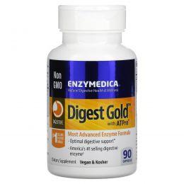 Enzymedica, Digest Gold с ATPro, самая передовая ферментная формула, 90 капсул