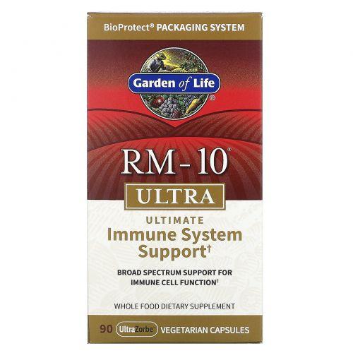 Garden of Life, «RM-10 ультра», формула здорового иммунитета, 90 растительных капсул
