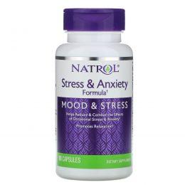 Natrol, Формула для борьбы со стрессом и беспокойством, настроение и стресс, 90 капсул