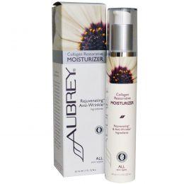 Aubrey Organics, Восстанавливающее увлажняющее средство с коллагеном, для всех типов кожи, 1,7 ж. унц. (50 мл)