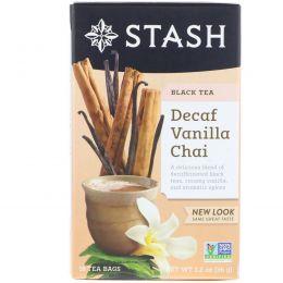 Stash Tea, Чай высшего сорта без кофеина, ванильный чай, 18 чайных пакетиков, 1,2 унции (36 г)