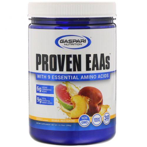 Gaspari Nutrition, Proven EAAs with 9 Essential Amino Acids, Guava Nectarine, 13.75 oz (390 g)