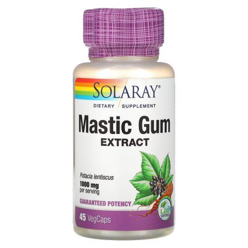 Solaray, Экстракт мастиковой смолы, 500 мг, 45 вегетарианских капсул
