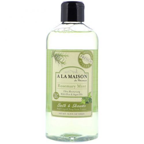 A La Maison de Provence, Bath & Shower Liquid Soap, Rosemary Mint, 16.9 fl oz (500 ml)