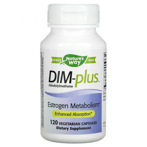 Nature's Way, DIM-plus, с формулой, улучшающей метаболизм эстрогенов, 120 капсул