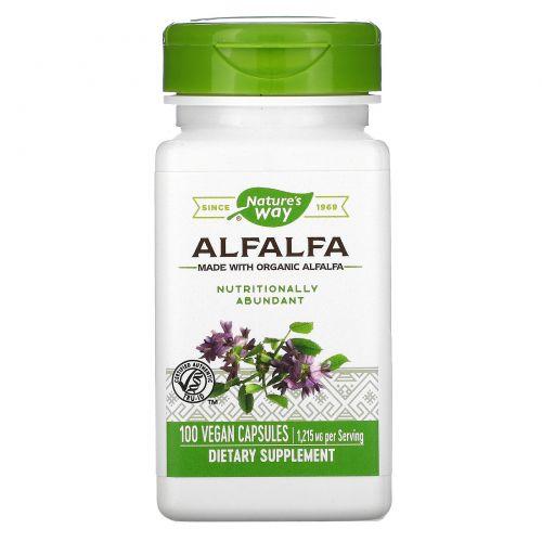 Nature's Way, Молодая люцерна, 405 мг, 100 растительных капсул