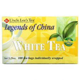 Uncle Lee's Tea, Легенды Китая, белый чай, 100 пакетиков, 5,29 унции (150 г)