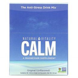 Natural Vitality, Натуральное успокоительное, расслабляющая добавка с магнием, 30 отдельных пакетиков, 0,12 унций (3,3 г)
