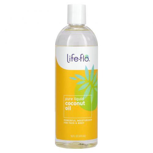 Life Flo Health, Средство для ухода за кожей, Фракционированное кокосовое масло, 16 жидких унций (473 мл)