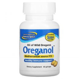 North American Herb & Spice Co., Ореганол P73, 60 мягких желатиновых капсул