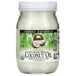 Source Naturals, 100% органическое кокосовое масло первого отжима, 15 жидких унций (443 мл)
