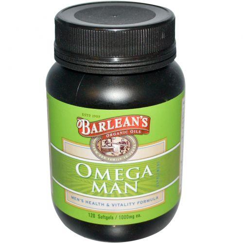 Barlean's, Омега-добавка для мужчин, 1000 мг, 120 мягких капсул