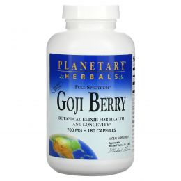 Planetary Herbals, Ягоды годжи, 700 мг, 180 капсул