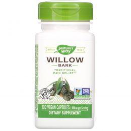 Nature's Way, Ива белая, 400 мг, 100 вегетарианских капсул