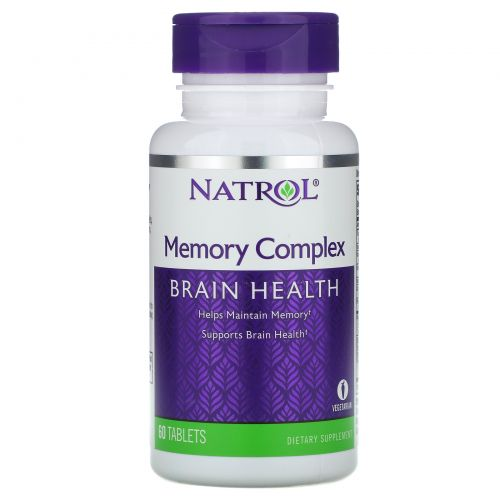 Natrol, Комплекс для памяти, 60 Таблеток