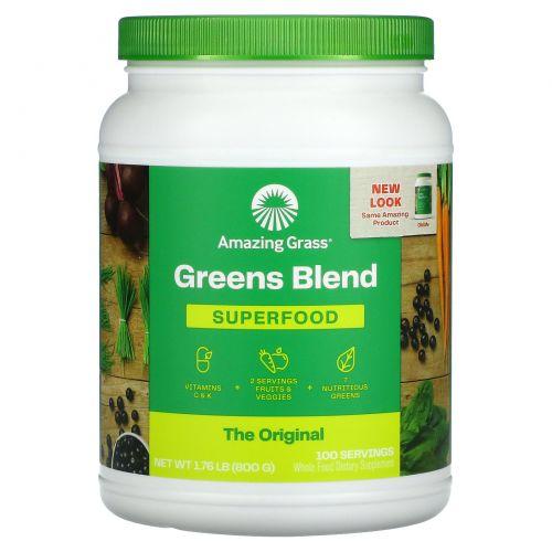 Amazing Grass, Зеленый суперпродукт, полностью натуральный сухой напиток, 28 унций (800 г)